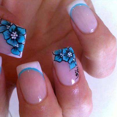 kék virágos  minta