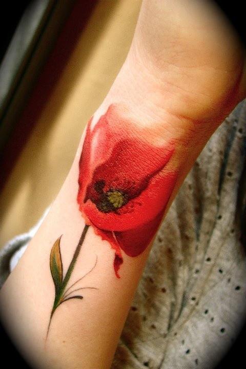 Pipacs tetoválás