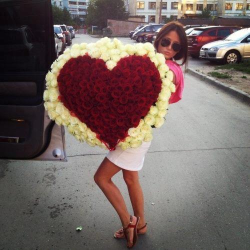szív csokor