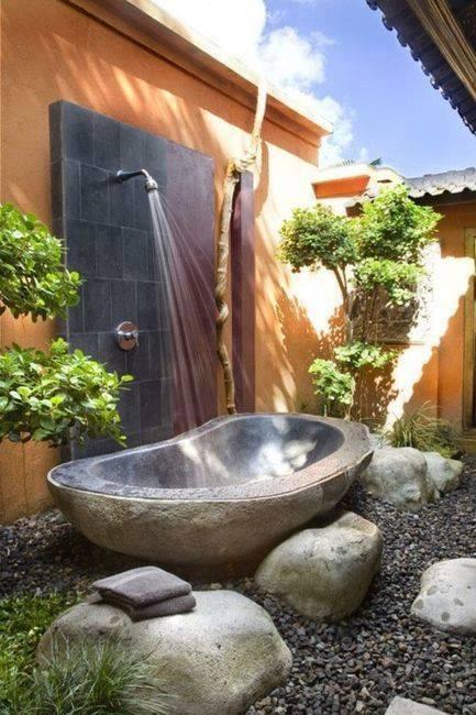 Hangulatos kerti fürdőzés
