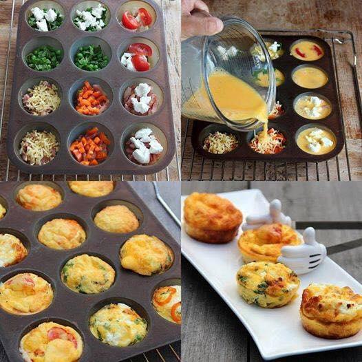 Muffin, avagy zöldséges rántotta