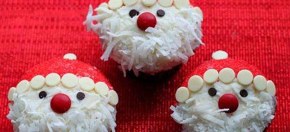 Mikulás cupcake