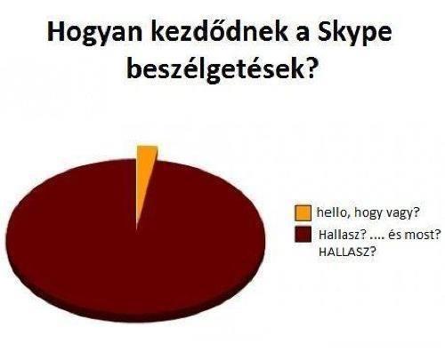Skype beszélgetések